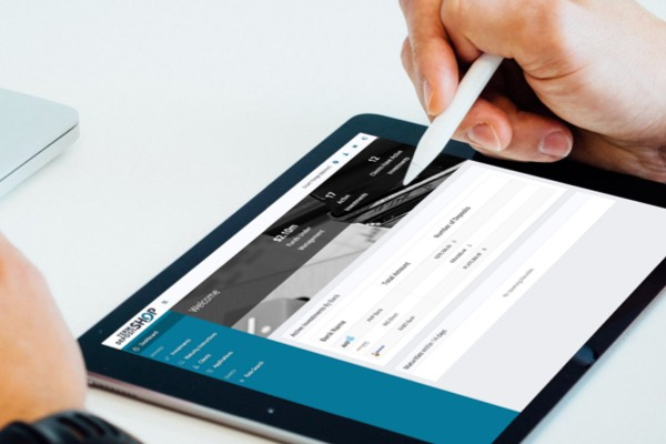Term deposit shop cloud software on a tablet device